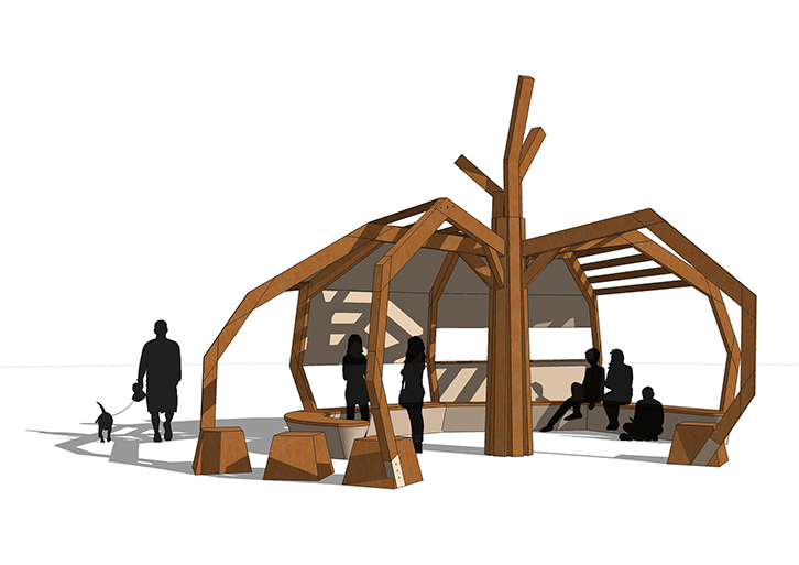 Spider - Youth Shelters designed exclusively for All Urban - CAD