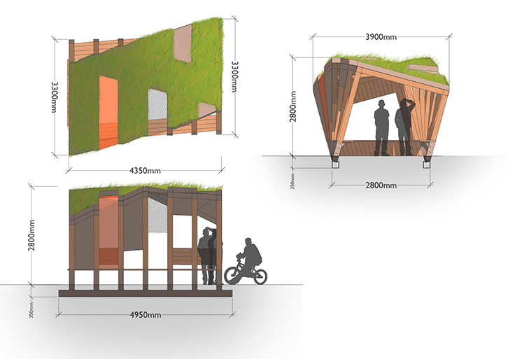 Twisted Youth - Youth Shelters designed exclusively for All Urban - CAD